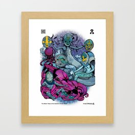 The Aqualine Water Tribe of The Southern Oceans Abyss Framed Art Print