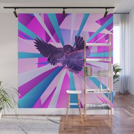 Stardust Owl Crystal Flare Wall Mural