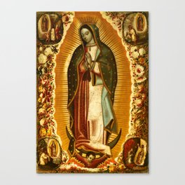 Our Lady Virgin of Guadalupe Virgin Mary Holy Blessed Maria Christmas Gift Religion Canvas Print