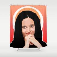 madonna Shower Curtains featuring Eva or Madonna? by Vito Fabrizio Brugnola