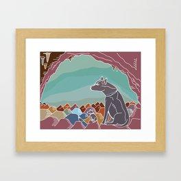 Hyena Dusk Framed Art Print