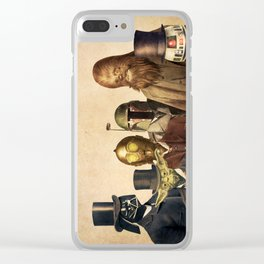 Victorian Wars (square format) Clear iPhone Case