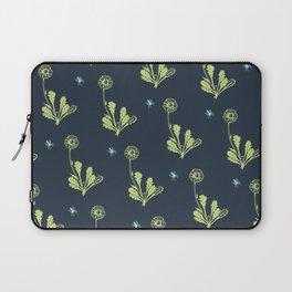 Spider Daisies (green + navy) Laptop Sleeve