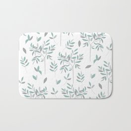Olive - white edition Bath Mat