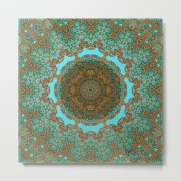 Spiritual art - Diaphanous moods mandala  Metal Print