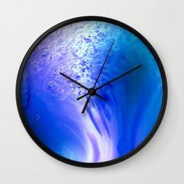 Blue Splash Abstract Wall Clock