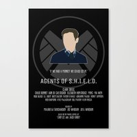 agents of shield Canvas Prints featuring Agents of S.H.I.E.L.D. - Fitz by MacGuffin Designs