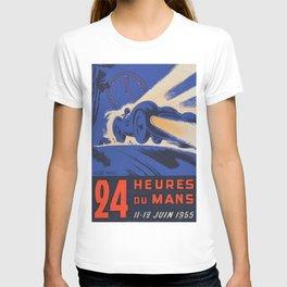 Le Mans 1955, 24hs Le Mans, 1955, original, vintage poster T-shirt