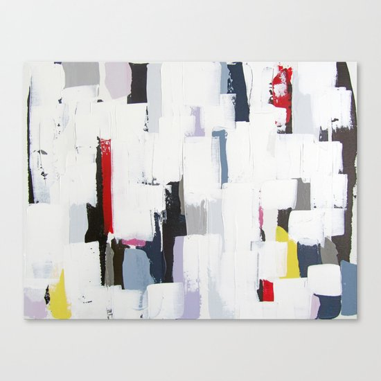 """No. 31 - Print of Original Acrylic Painting on canvas - 16"""" x 20"""" - (White and multi-color) Canvas Print"""