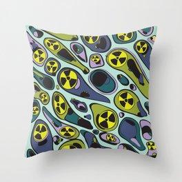 Toxic Microbes Throw Pillow