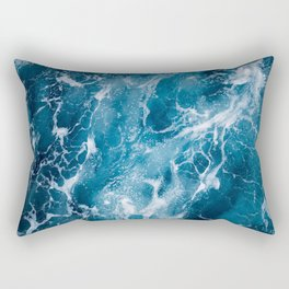Sea Aerial view, Top view, amazing nature background.The color of the water and beautifully bright. Azure beach with rocky mountains and clear water of ocean at sunny day. Flying drone,sea view Rectangular Pillow