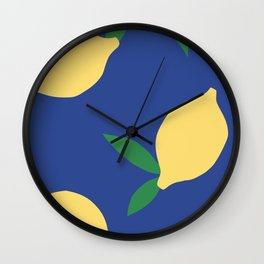 Lemons - Collage Wall Clock