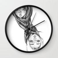 infinite Wall Clocks featuring INFINITE by Phathisa H.