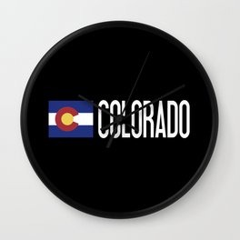 Colorado: Coloradan Flag & Colorado Wall Clock