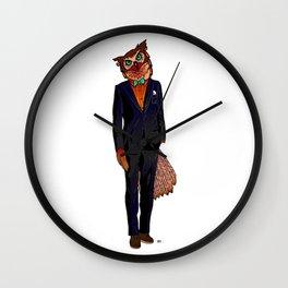Gentle Owl / Coloured Wall Clock