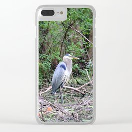 Blue Heron At The Lake Clear iPhone Case
