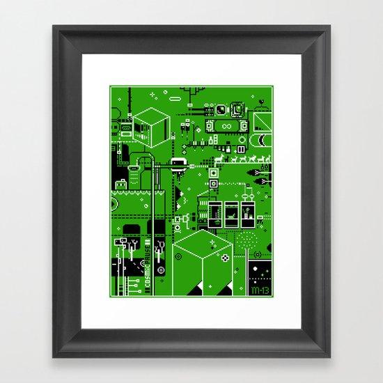 Cosmic Pause - pixel art Framed Art Print