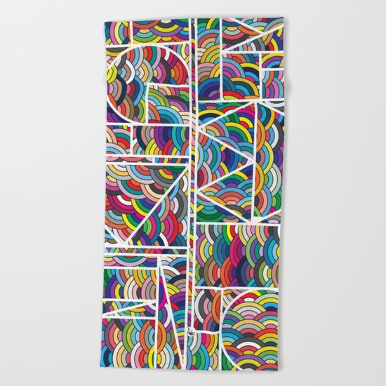 Kaku Technicolor Beach Towel