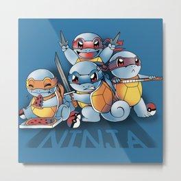 squirtle ninja Metal Print
