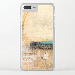 10x10 Series: 748 grunge Clear iPhone Case