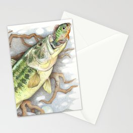 Bass and Pumpkin Seed Stationery Cards