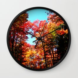 Fall Forest Delight Wall Clock