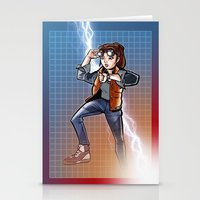 mcfly Stationery Cards featuring Marti McFly by Eye Opening Design