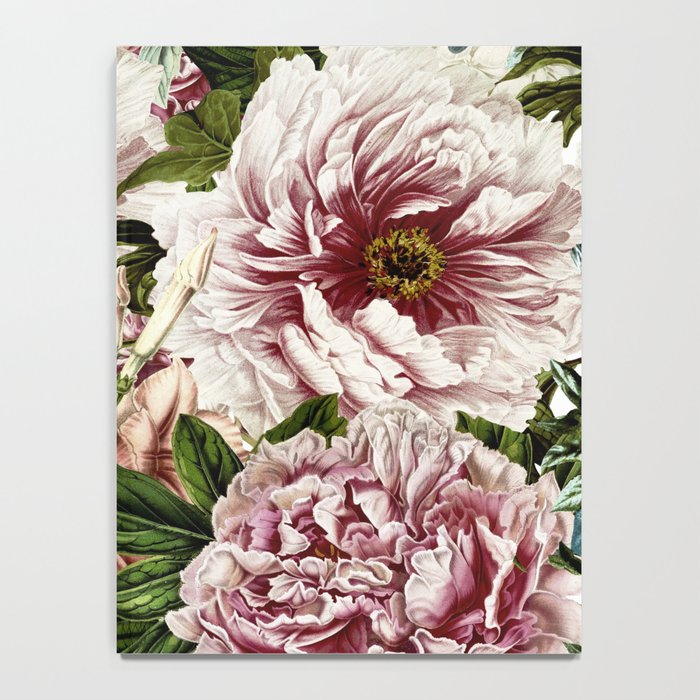 Vintage Peony and Ipomea Pattern - Smelling Dreams Notebook