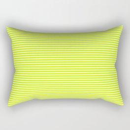 Banana and Lime Yellow and Green Stripes Rectangular Pillow