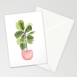 Fiddle-Leaf Fig (Watercolor) Stationery Cards