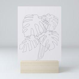 Monstera Illustration Mini Art Print