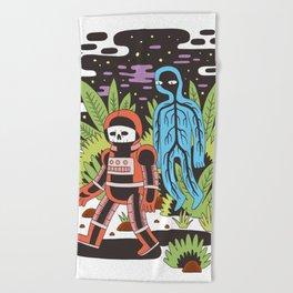 Ghost Space Beach Towel