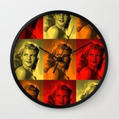 Rita Hayworth Color Wall Clock