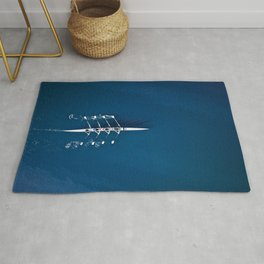 Classic Blue Teamwork | Aerial Print Rug