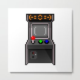 The arcade cabinet Metal Print