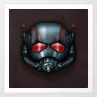 Icon Series 3: (Masks 3/3) Hank Pym/Scott Lang's Ant Man Mask Art Print