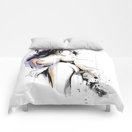 Shibari - Japanese BDSM Art Painting #13 Comforters