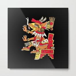 Huehuecoyotl Aztec God of Music and Mischief Metal Print