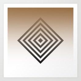 Diamond Gradient Art Print