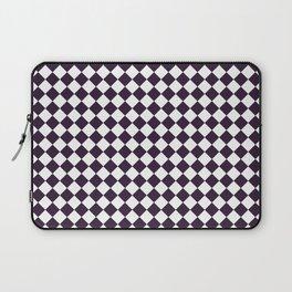 Small Diamonds - White and Dark Purple Laptop Sleeve