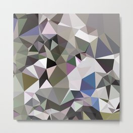 Davy Grey Abstract Low Polygon Background Metal Print