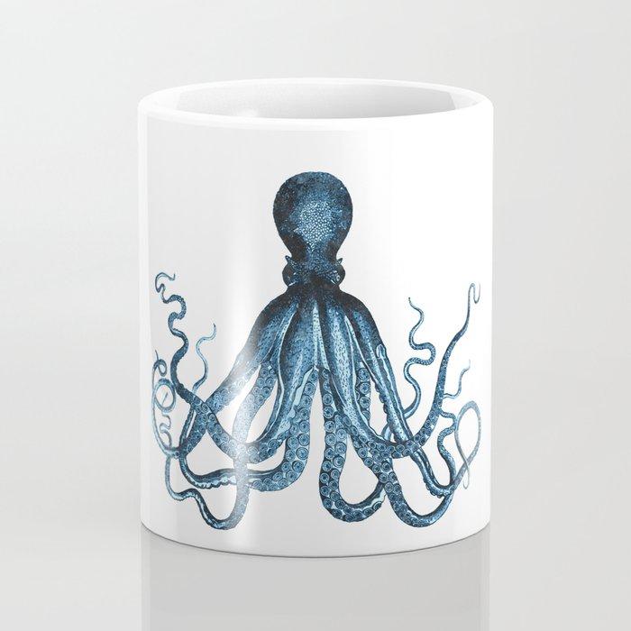 Octopus coastal ocean blue watercolor Coffee Mug