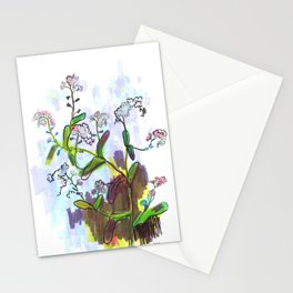 """Original Flower print """"Forget Me Not"""" Stationery Cards"""
