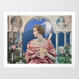 La Dame Au Camelia Art Print