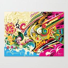 El Viento Azteca ~ The Aztec Wind Canvas Print