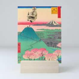 Appa over Mt. Fuji Mini Art Print