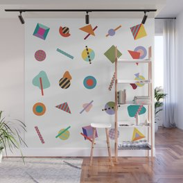 Gridlock Geometric Summer Wall Mural
