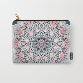 Expansion - boho mandala in soft salmon pink & blue Carry-All Pouch