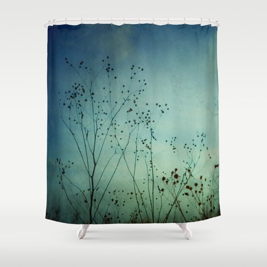 Fleeting Moment - Blue Shades Shower Curtain