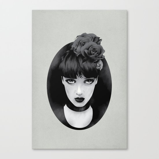 Lady Canvas Print